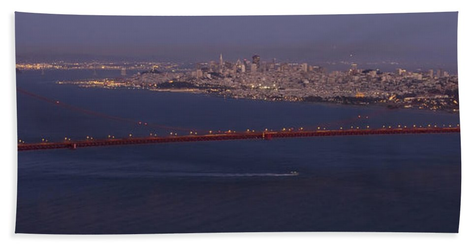 A View From Marin Headlands Bath Sheet featuring the photograph A View From Marin Headlands by Wes and Dotty Weber