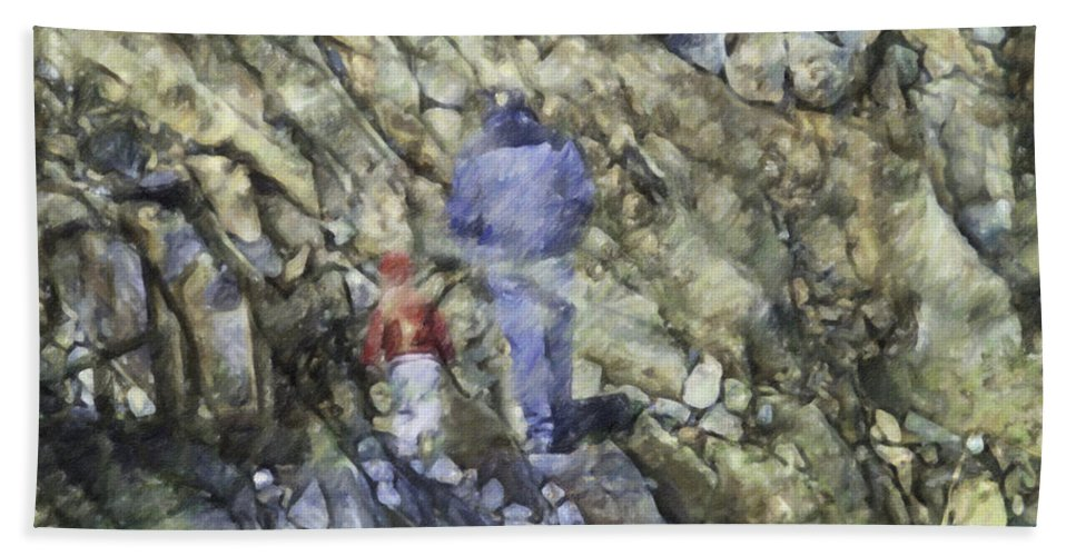 Boy Bath Sheet featuring the photograph A Walk In The Park by Trish Tritz