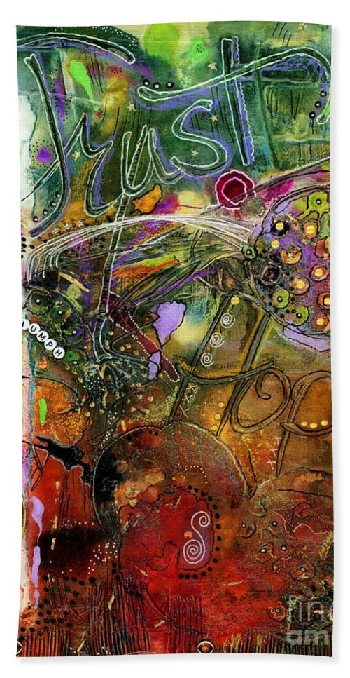 Women Hand Towel featuring the mixed media A World-full Of Hope Makes Room For Trust by Angela L Walker