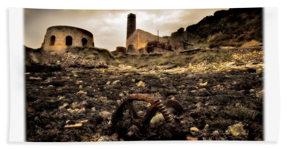 Porth Wen Bath Sheet featuring the photograph Abandoned Brickworks by Mal Bray