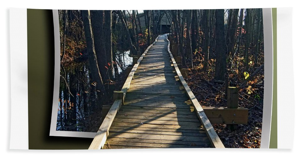 2d Bath Sheet featuring the photograph Abbotts Nature Trail by Brian Wallace