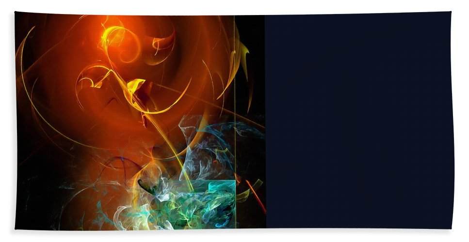 Graphics Hand Towel featuring the digital art Abs 0255 by Marek Lutek