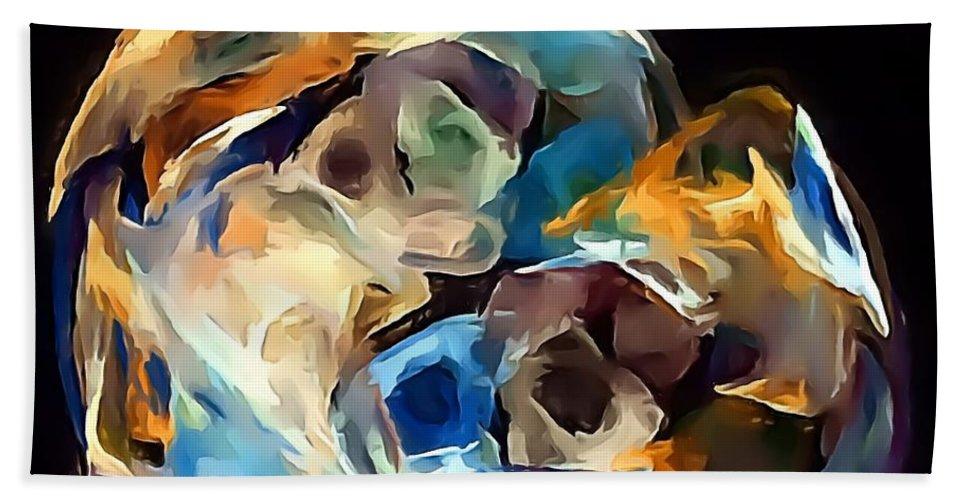 Graphics Hand Towel featuring the digital art Abs 0258 by Marek Lutek