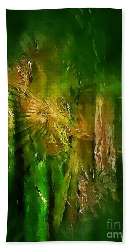 Graphics Hand Towel featuring the digital art Abs 0260 by Marek Lutek