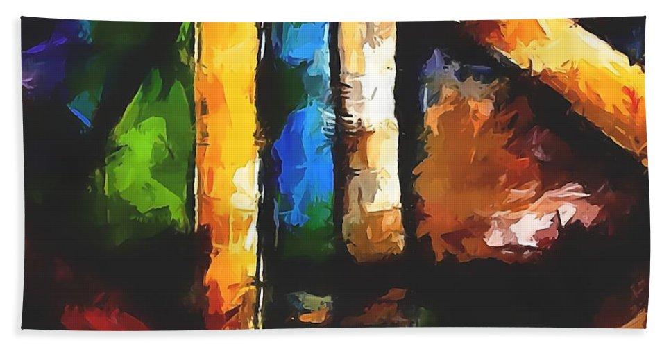 Graphics Hand Towel featuring the digital art Abs 0266 by Marek Lutek