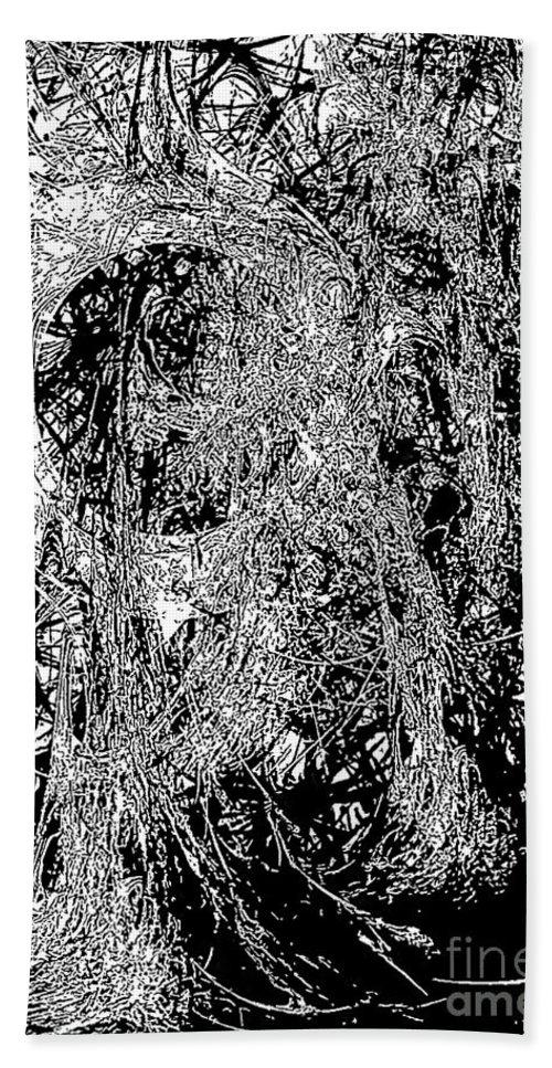 Graphics Hand Towel featuring the digital art Abs 0284 by Marek Lutek