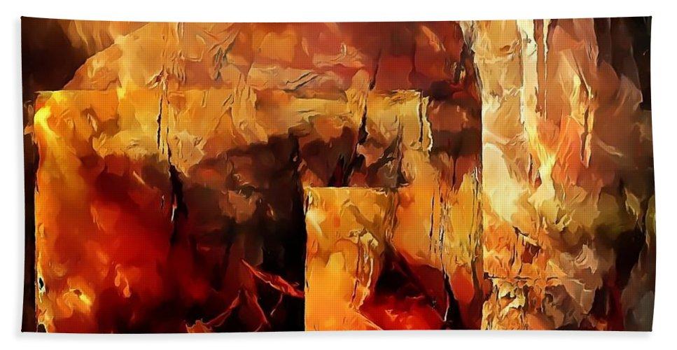 Graphics Hand Towel featuring the digital art Abs 0288 by Marek Lutek