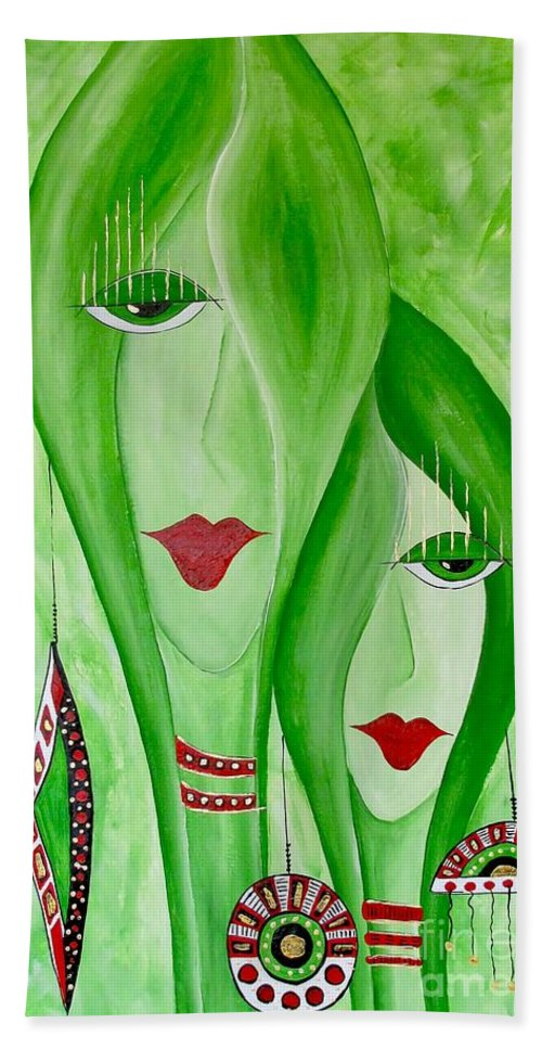 Graphics Hand Towel featuring the painting Abs 0451 by Marek Lutek