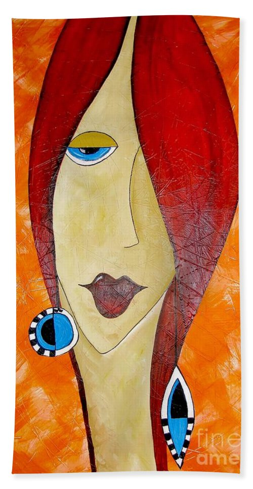 Graphics Hand Towel featuring the painting Abs 0461 by Marek Lutek