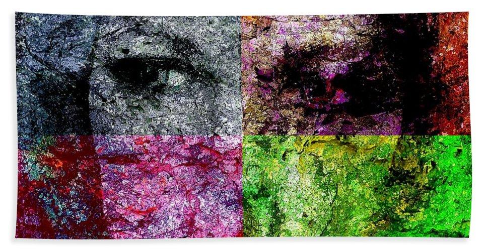 Graphics Hand Towel featuring the digital art Abs 0488 by Marek Lutek