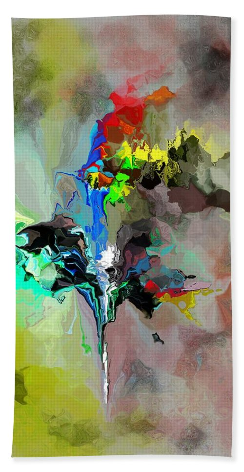 Fine Art Bath Sheet featuring the digital art Abstract 082412-1 by David Lane