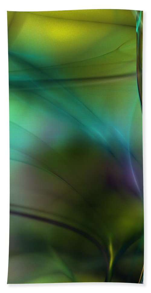 Fine Art Hand Towel featuring the digital art Abstract 090711a by David Lane