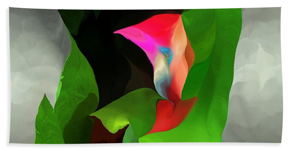 Fine Art Hand Towel featuring the digital art Abstract 091912a by David Lane