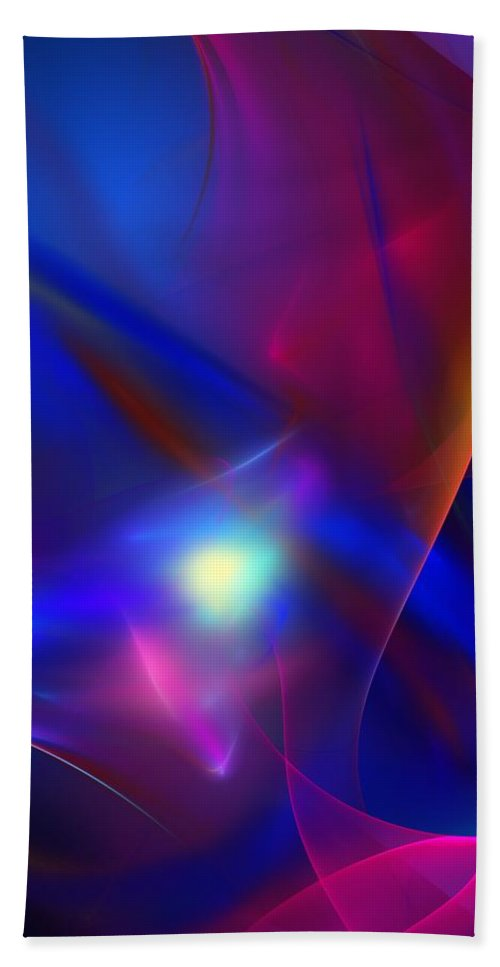 Fine Art Bath Sheet featuring the digital art Abstract 092111 by David Lane