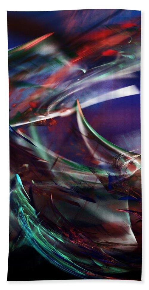 Fine Art Bath Sheet featuring the digital art abstract 092111A by David Lane