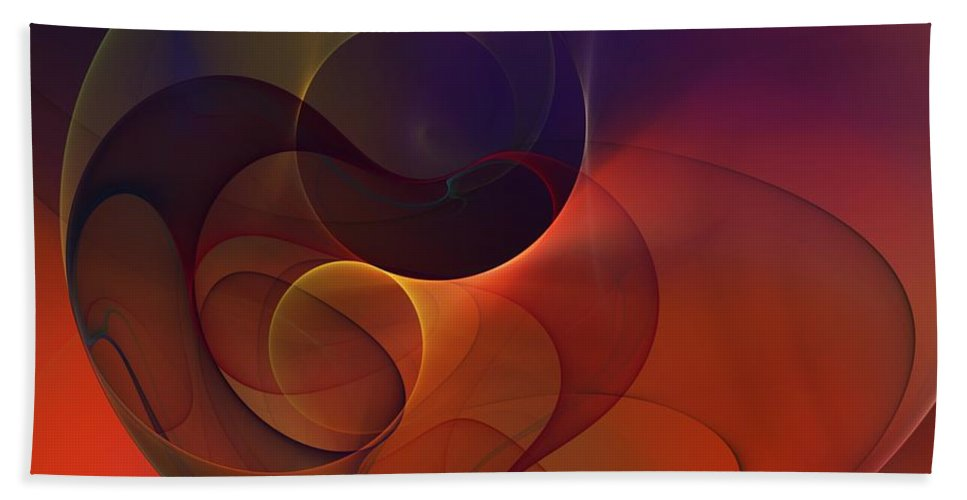 Fine Art Bath Sheet featuring the digital art Abstract 102611c by David Lane