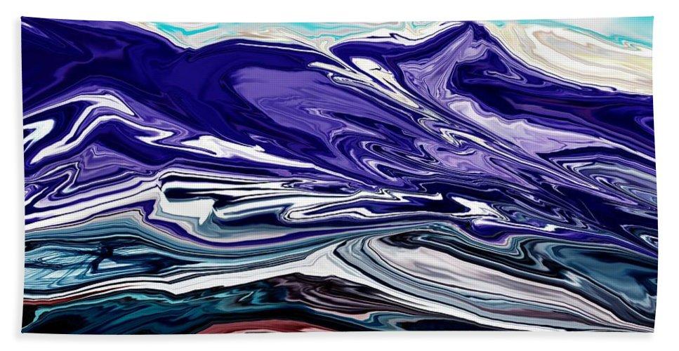 Fine Art Bath Sheet featuring the digital art Abstract 102711 by David Lane