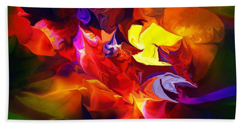 Abstract Bath Sheet featuring the digital art Abstract 120711 by David Lane