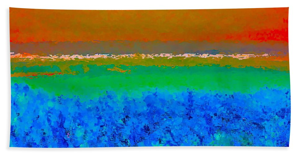 Abstract Bath Sheet featuring the photograph Abstract 204 by Pamela Cooper