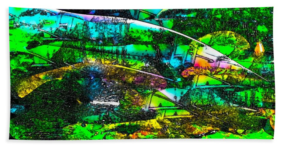 Abstract Bath Sheet featuring the photograph Abstract 241 by Pamela Cooper
