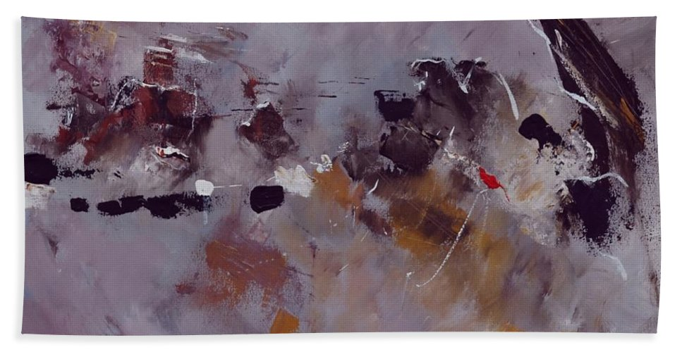 Abstract Bath Sheet featuring the painting Abstract 6621303 by Pol Ledent