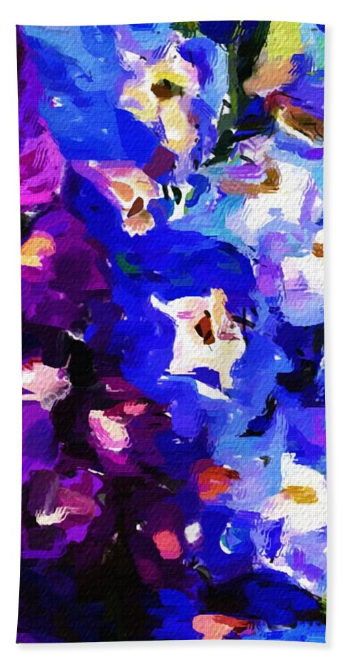 Fine Art Bath Sheet featuring the digital art Abstract Floral 031112 by David Lane