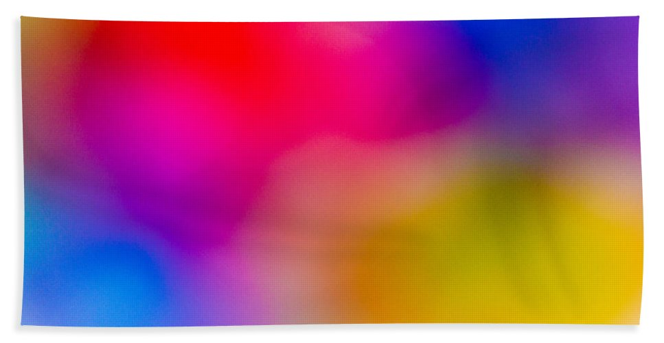 Colour Hand Towel featuring the digital art Abstract Focus Art by David Pyatt