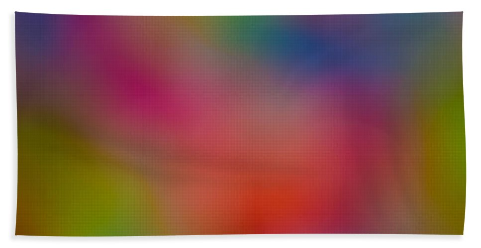 Abstract Hand Towel featuring the digital art Abstract Focus by David Pyatt