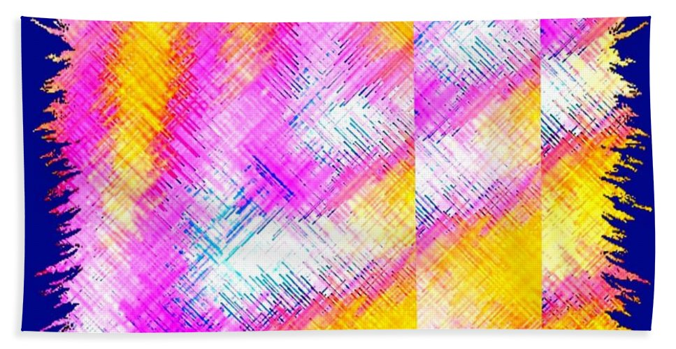 Abstract Fusion Bath Sheet featuring the digital art Abstract Fusion 127 by Will Borden