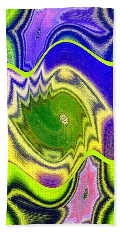 Abstract Fusion Hand Towel featuring the digital art Abstract Fusion 157 by Will Borden