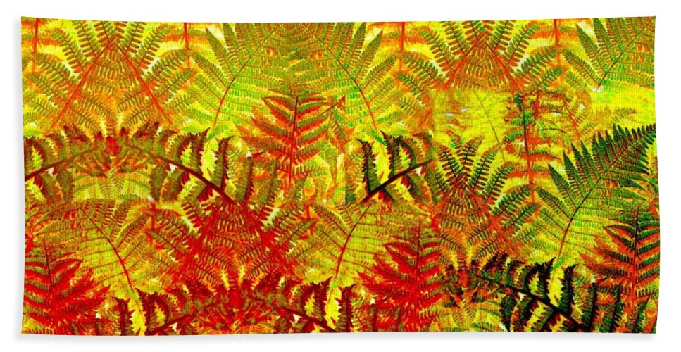 Abstract Fusion Bath Sheet featuring the digital art Abstract Fusion 23 by Will Borden