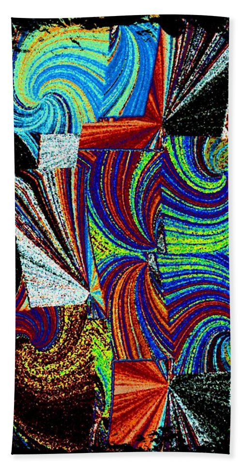 Abstract Fusion Bath Sheet featuring the digital art Abstract Fusion 37 by Will Borden