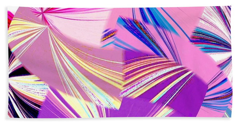 Abstract Fusion Hand Towel featuring the digital art Abstract Fusion 41 by Will Borden