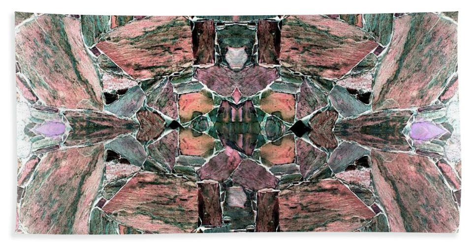 Abstract Fusion Hand Towel featuring the digital art Abstract Fusion 68 by Will Borden