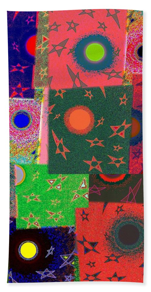 Abstract Fusion Bath Sheet featuring the digital art Abstract Fusion 79 by Will Borden