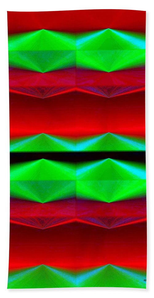 Abstract Fusion Bath Sheet featuring the digital art Abstract Fusion 83 by Will Borden