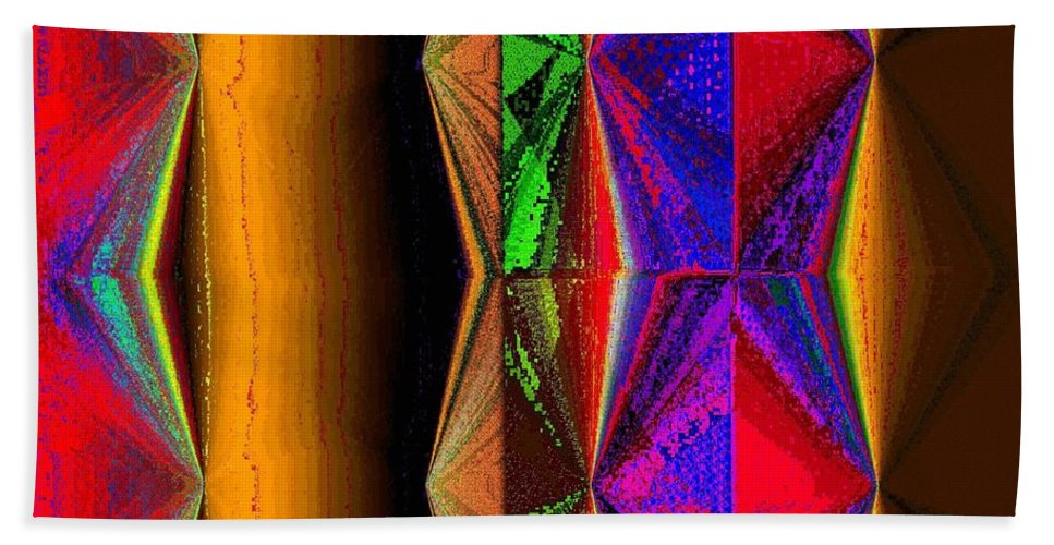Abstract Fusion Bath Sheet featuring the digital art Abstract Fusion 87 by Will Borden