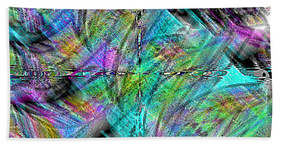 Abstract Bath Sheet featuring the digital art Abstract In Chalk by Leslie Revels