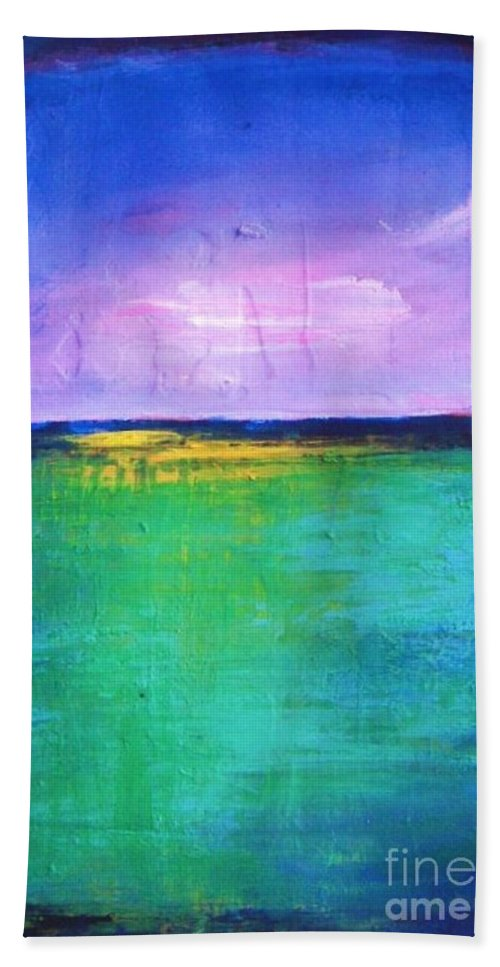 Abstract Bath Sheet featuring the painting Splendor by Vesna Antic
