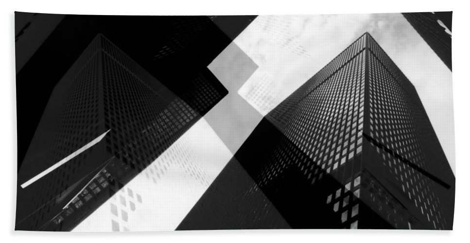 Architecture Bath Sheet featuring the photograph Abstract Mies by Andrew Fare