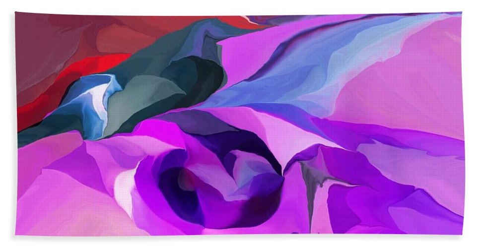 Fine Art Hand Towel featuring the digital art Abstract041712 by David Lane