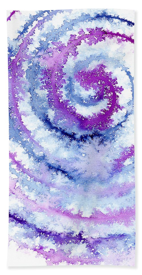Acrylics Hand Towel featuring the painting Acrylic Fractals by Hakon Soreide