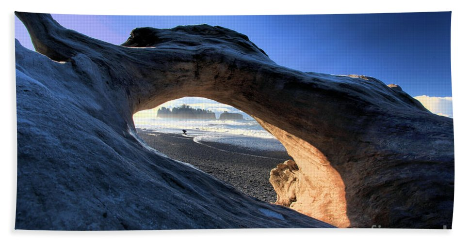 Rialto Beach Bath Sheet featuring the photograph Adrift At Olympic by Adam Jewell