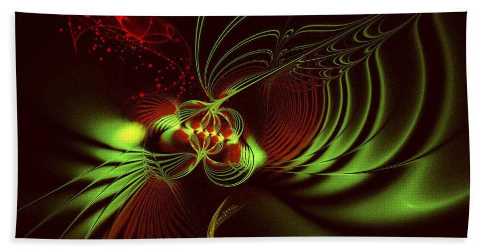 Fractal Bath Sheet featuring the digital art Advent by Jutta Maria Pusl