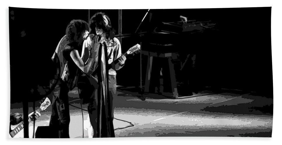 Aerosmith Bath Sheet featuring the photograph Aerosmith In Spokane 12 by Ben Upham