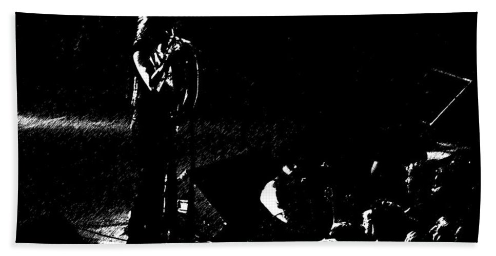 Aerosmith Bath Sheet featuring the photograph Aerosmith In Spokane 15b by Ben Upham