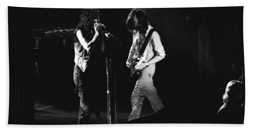 Aerosmith Bath Sheet featuring the photograph Aerosmith In Spokane 29 by Ben Upham