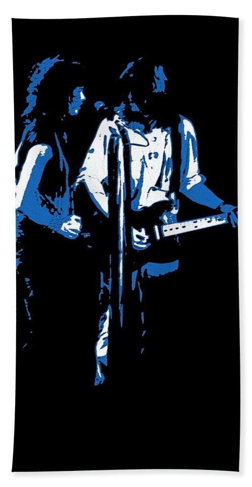 Aerosmith Bath Sheet featuring the photograph Aerosmith In Spokane 32b by Ben Upham