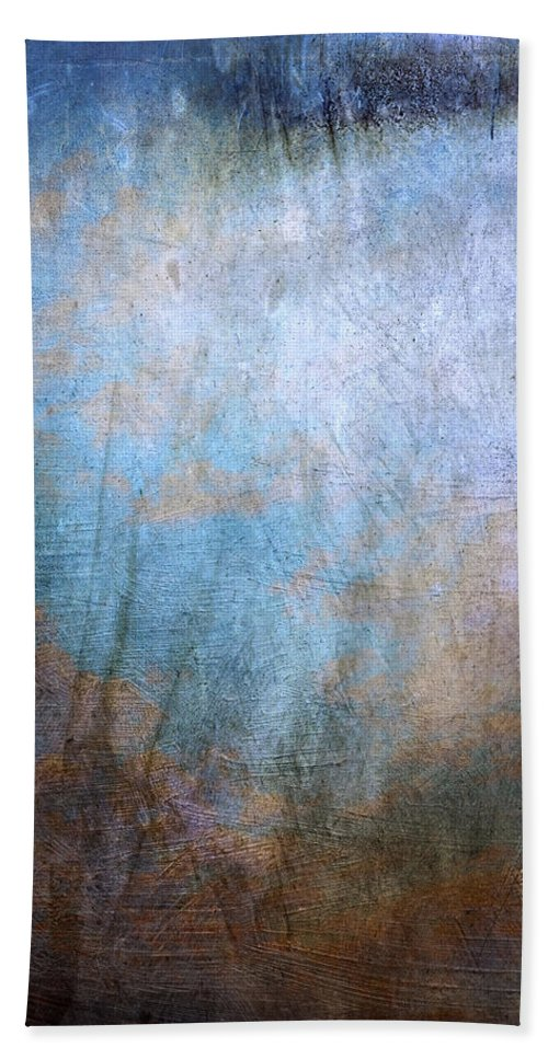 Blue Bath Sheet featuring the painting Afterglow by Julie Niemela