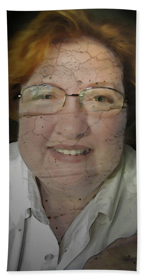 Faces Bath Sheet featuring the photograph Ageing A Little by Debbie Portwood